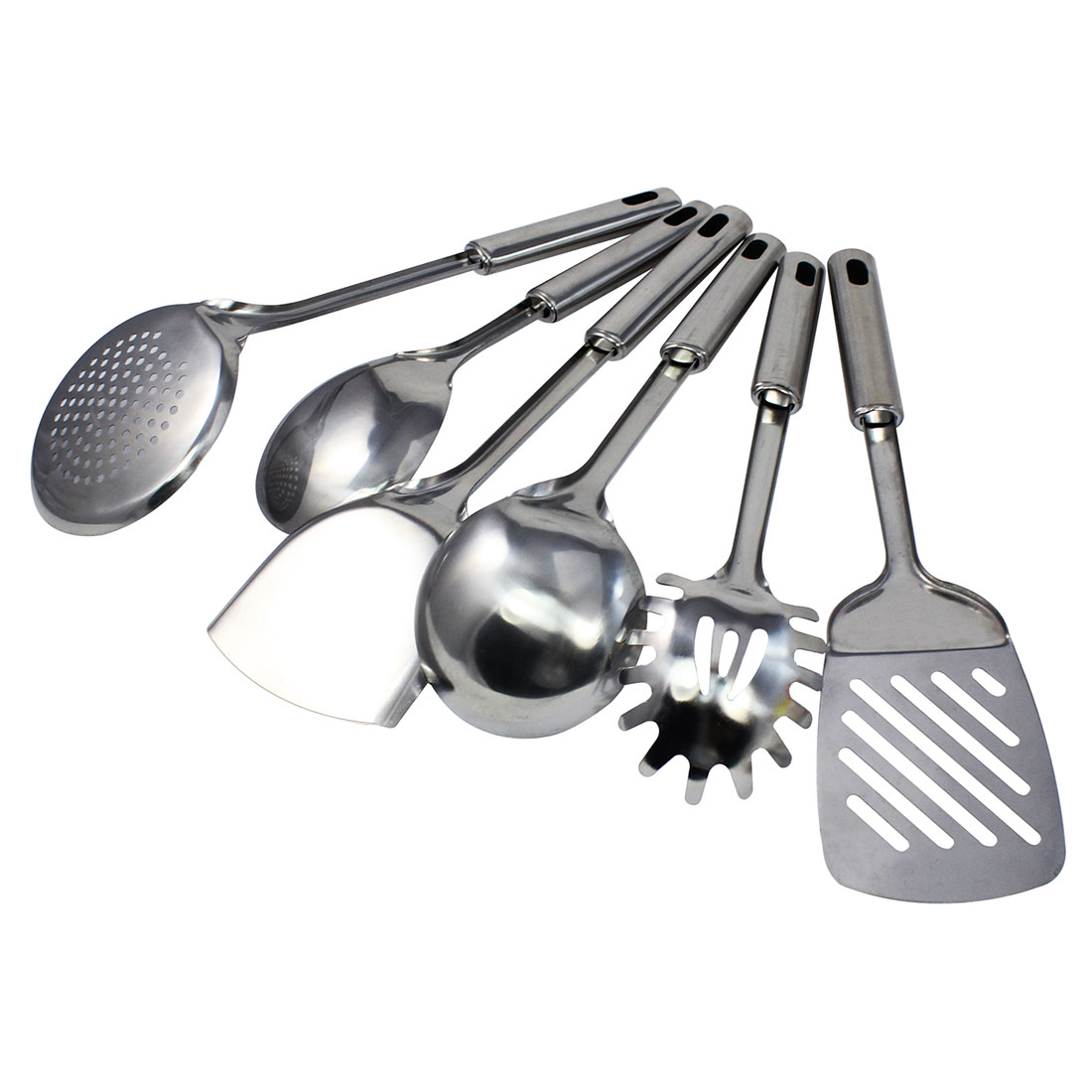 Home Restaurant Kitchen Utensil Stainless Steel Kitchenware Set 6 in 1