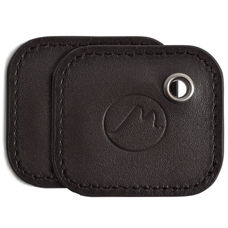 Tile Mate Case by Metier Life | Gen 2 Tile Phone and Item Finder Vegan Leather Key FOB Cover | Elegant Protection with Included Keyring - Tan 2 Pack