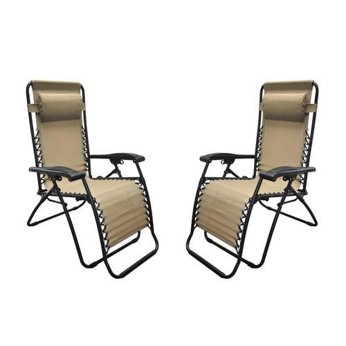 Latitude Run Sonora Jara Reclining Zero Gravity Chair (Set of 2)