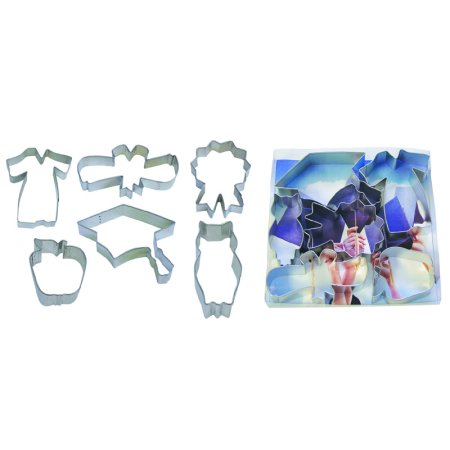 Graduation 6 piece set - R&M Tinplated Steel Cookie Cutter - 1938](Walmart Cookie Cutters)