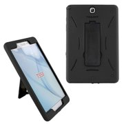 Shockproof Hybrid Case Cover by KIQ for Samsung Galaxy Tab A 8.0 SM-T350 (Black-in / Black)