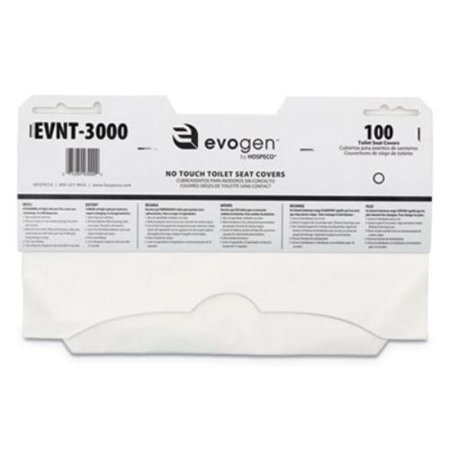 Procter & Gamble EVNT-3000 Evogen No Touch Toilet Seat Covers, 15 1/2