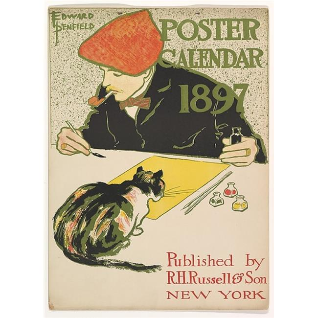 Public Domain Images MET339533 Cover for 1897 Calendar Poster Print by Edward Penfield, American Brooklyn New York 1866 1925 Beacon New York, 18 x 24 - image 1 de 1