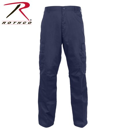 Regular Ripstop Bdu Pants - Rothco Relaxed Fit Zipper Fly BDU Pants Navy Blue