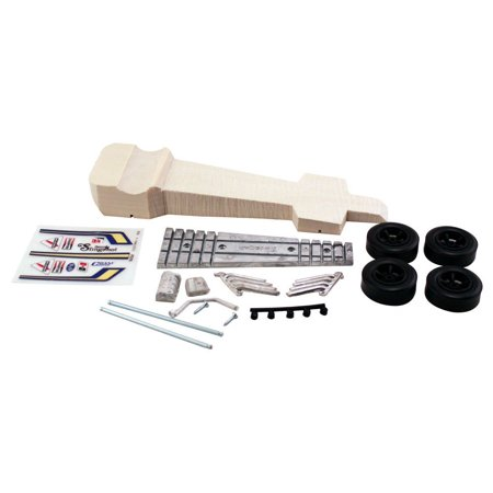 Deluxe Car Kit, Slingshot Dragster, Official Pinewood derby items By Pinecar
