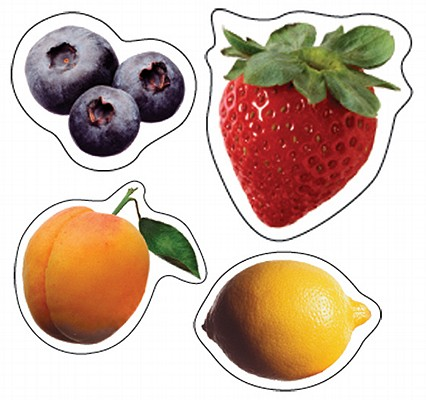 Fruit: Photographic Shape Stickers