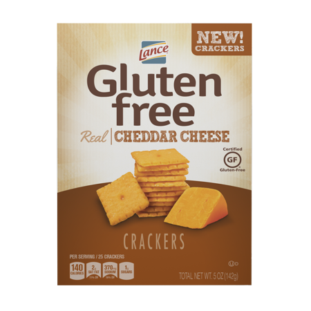 Lance Gluten Free Cheddar Cheese Crackers, 5 Oz, 4 Ct