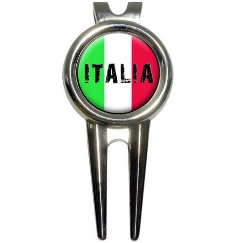Italia/Italy Italian Flag Golf Divot Repair Tool and Ball Marker