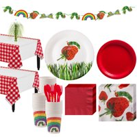 Hungry Caterpillar Party Supplies for 24 Guests, With Tableware and Decorations