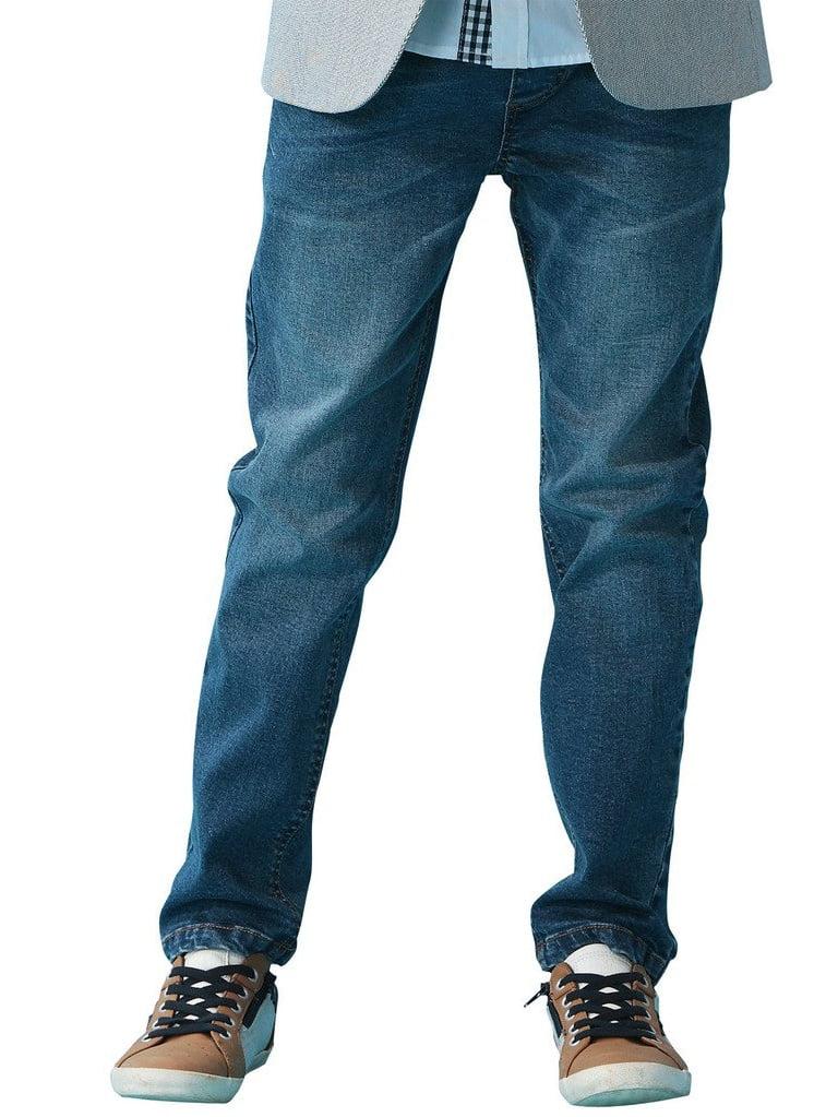 Leo&Lily Boys' Kids' Husky Rib Waist Stretch Denim Jeans Pants