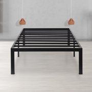 Sleeplace 14-Inch Dura Metal Steel Slat Bed Frame Twin 14BF04T