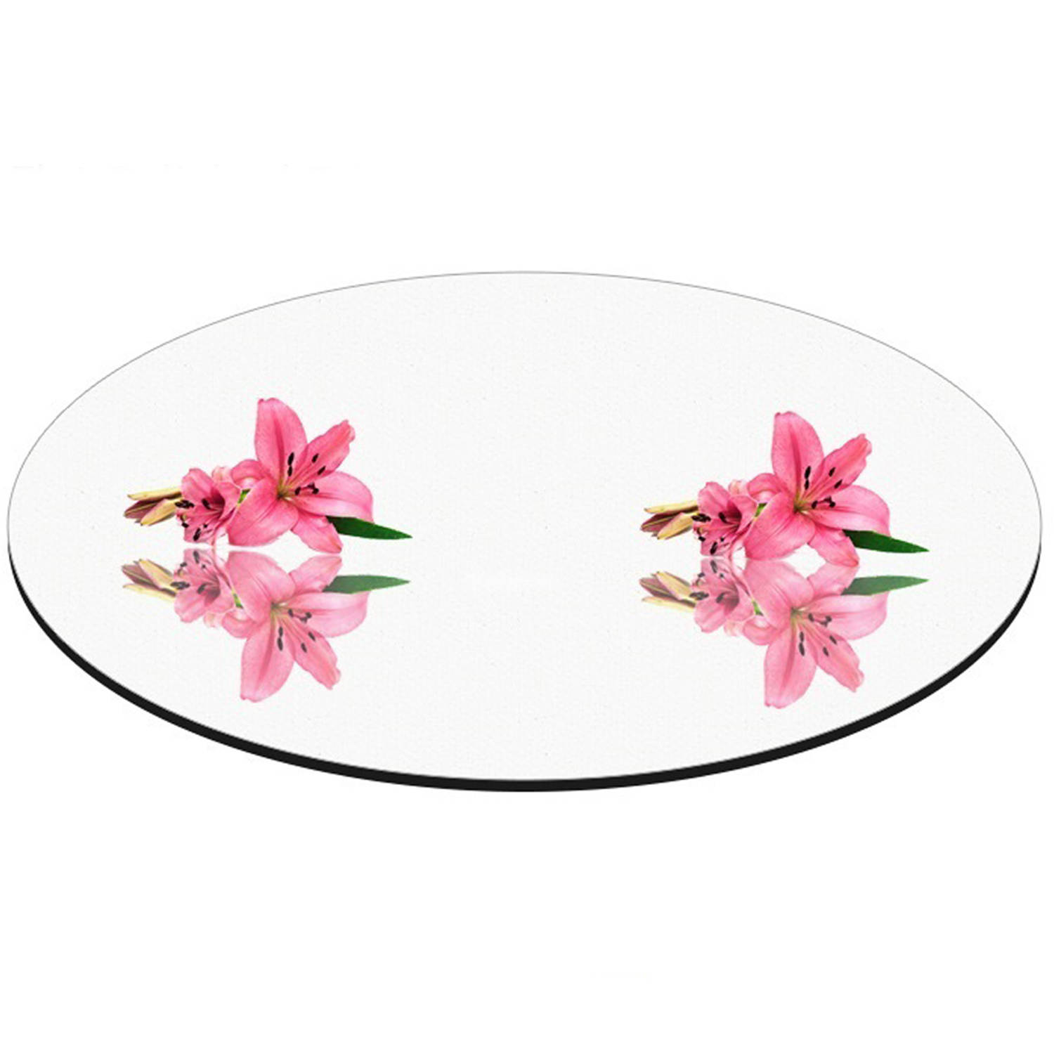 "6"" Round Mirror Centerpiece Plate by Fab Glass and Mirror"