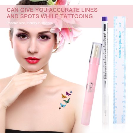 Yosoo Skin Marker Tattoo Piercing Marking Pen Magic Eraser Pen Plastic Surgical Eyebrow Tattoo Tools Skin Marking Pen Skin Eraser Pen Walmart