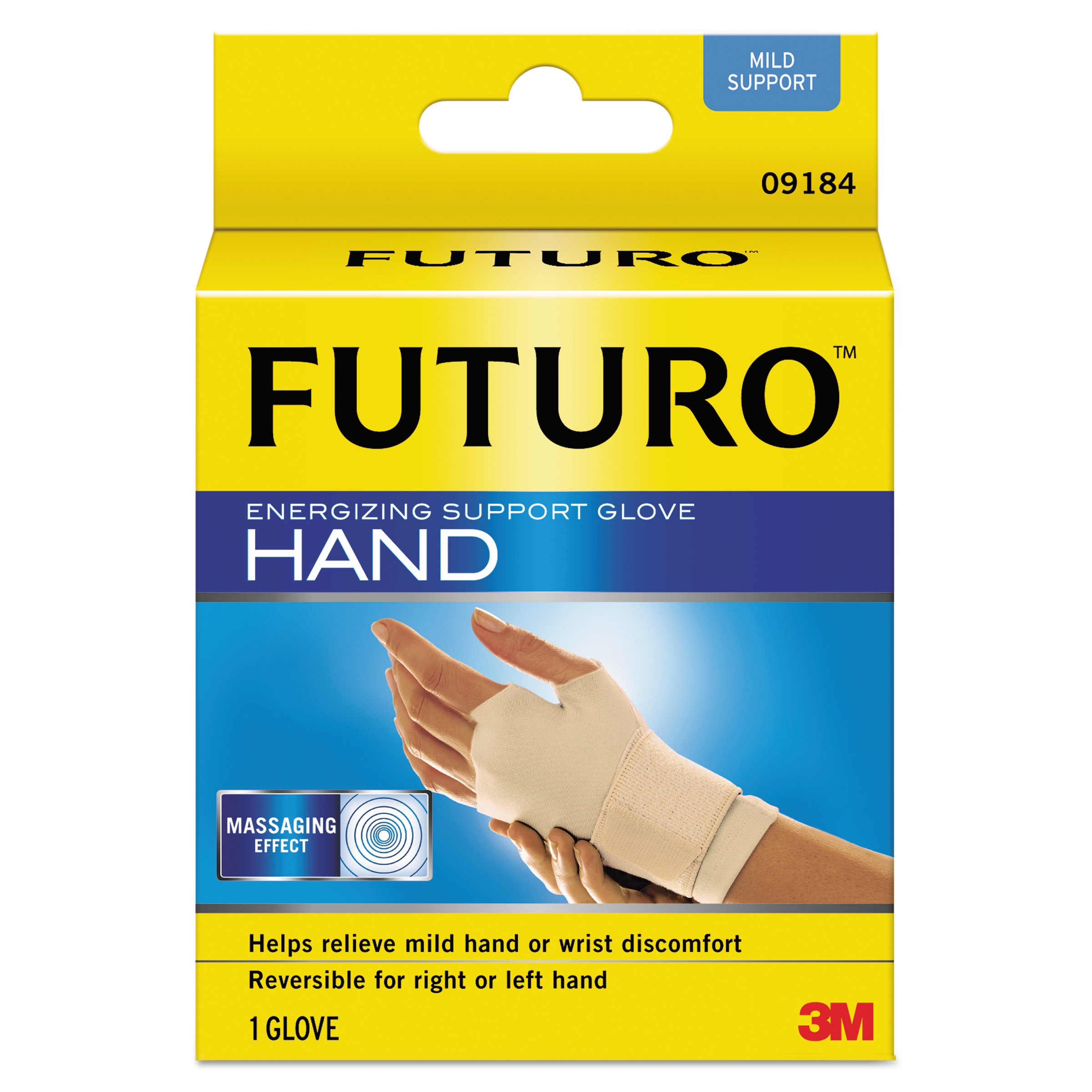 "FUTURO Energizing Support Glove, Medium, Palm Size 7 1/2"" - 8 1/2"", Tan"