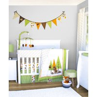 Pam Grace Creations Charming Woodland Forest 6 Piece Crib Bedding Set