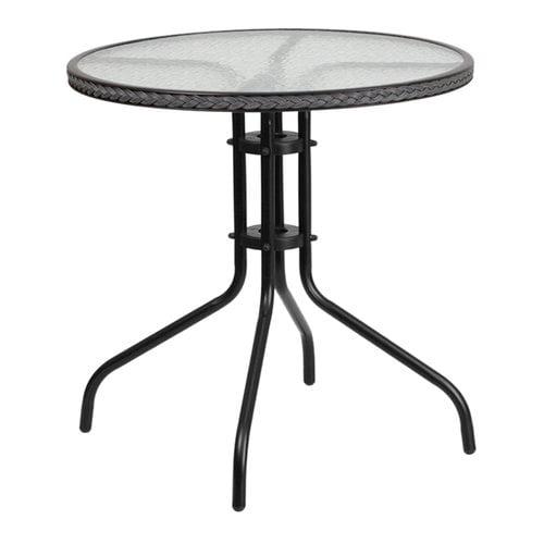 Ebern Designs Gingerich Glass Bistro Table