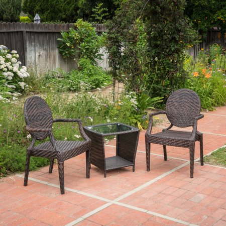 Anaheim 3 Piece Set - Pasadena Wicker 3 Piece Outdoor Stacking Chair Chat Set