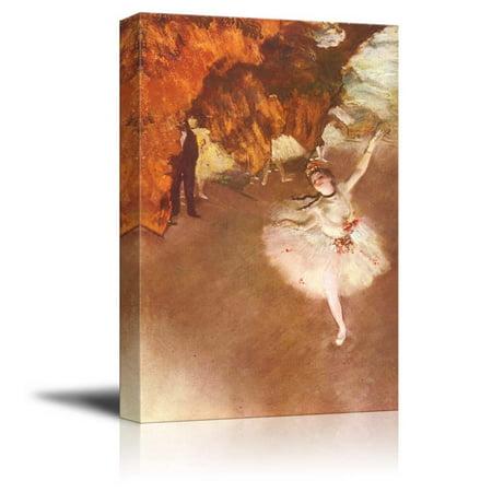 Degas Ballerina Paintings - wall26 Prima Ballerina by Edgar Degas - Canvas Print Wall Art Famous Painting Reproduction - 16