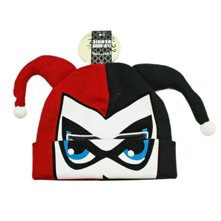 Down Beanie (DC Comic's Harley Quinn Flip-Down Knit)
