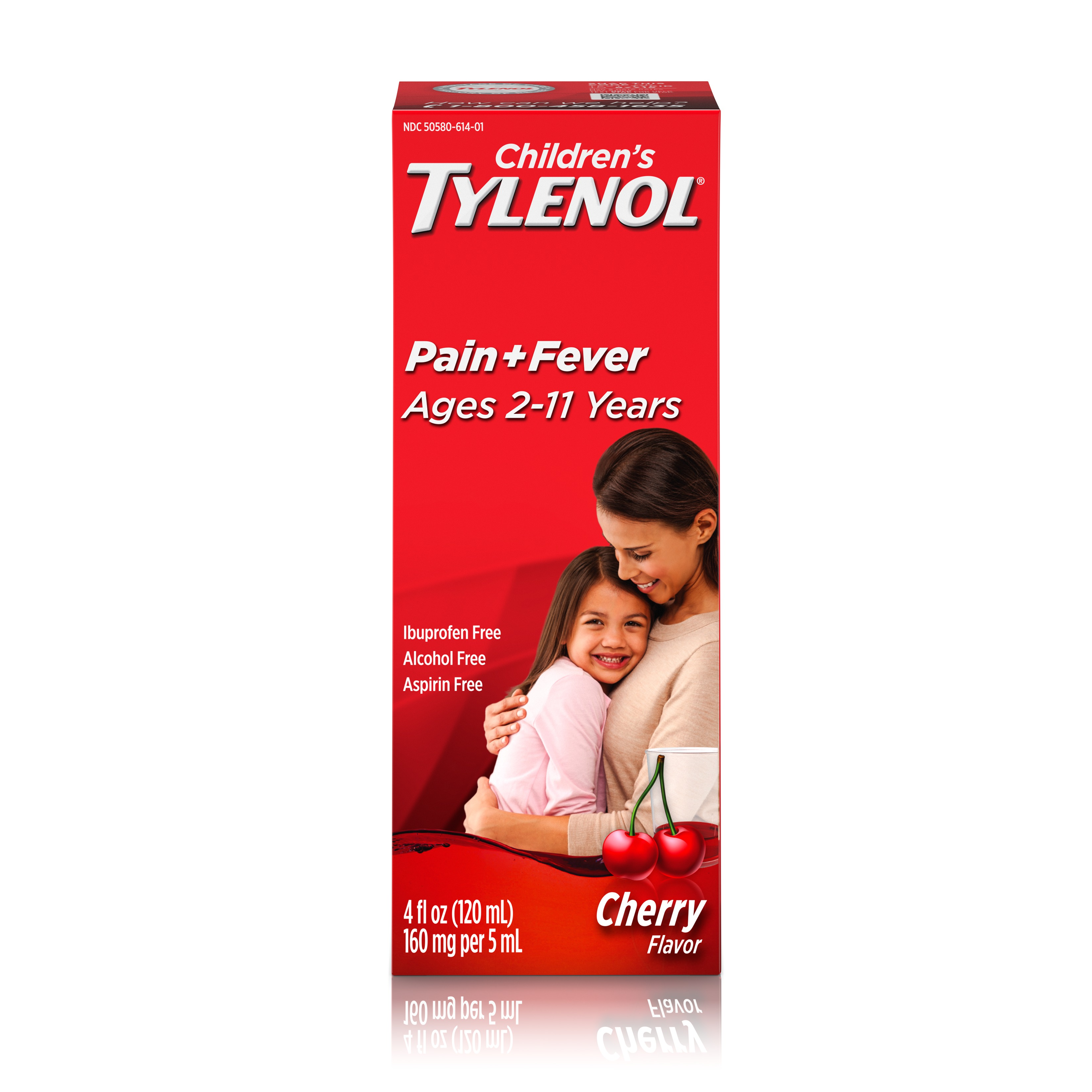 Children's Tylenol Oral Suspension, Fever Reducer and Pain Reliever, Cherry, 4 fl oz