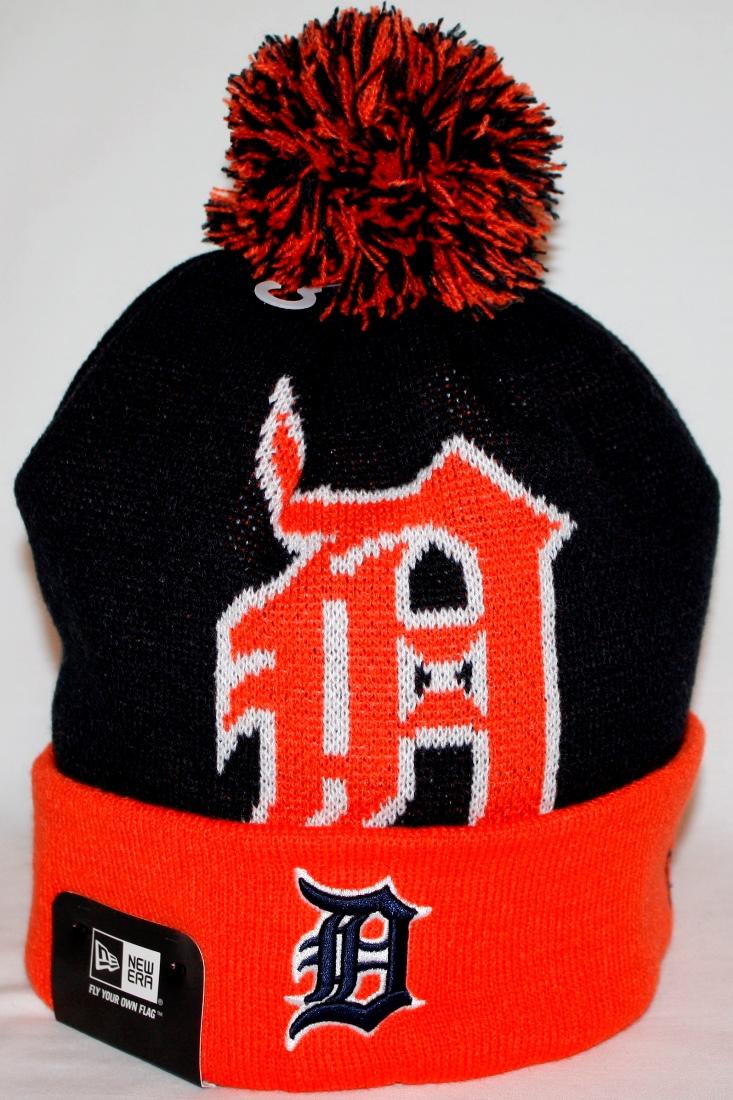 Detroit Tigers New Era MLB Woven Biggie 2 Cuffed Knit Hat by New Era