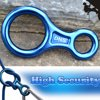 Rock Climbing Figure 8 Descender, iClover [Heavy Duty] 35KN/3500kg Climb Aluminum Rescue Figure 8 Rigging Plate Climbing Equipment Rappelling Belaying (Blue)