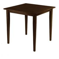 Winsome Wood Groveland Square Dining Table, Walnut Finish