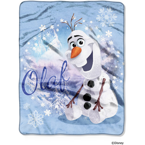 "Disney Frozen Winter Olaf 40"" x 50"" Silk Touch Throw"