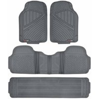 Motor Trend FlexTough Car Floor Mats 3 Rows, Odorless EcoClean Liners, 3 Colors