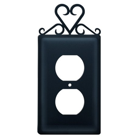 Village Wrought Iron Eo 51 Heart Single Outlet Cover