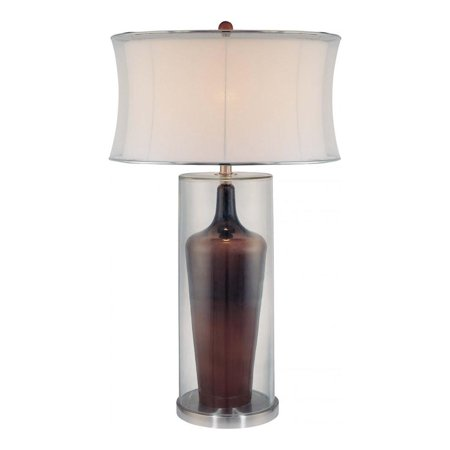 Chocolate And Glass 1 Light 32In. Height Table Lamp With Cream Corset Shade