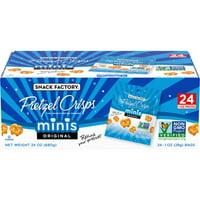 Snack Factory Pretzel Crisps Minis Original Flavor, Snack Packs, 24 Ct
