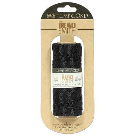 Dyed Black Hemp (Natural Hemp Twine Bead Cord Black Color 1mm / 197 Feet (60 Meters))