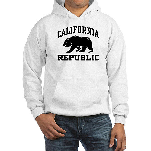 CafePress Men's California Republic Hoodie
