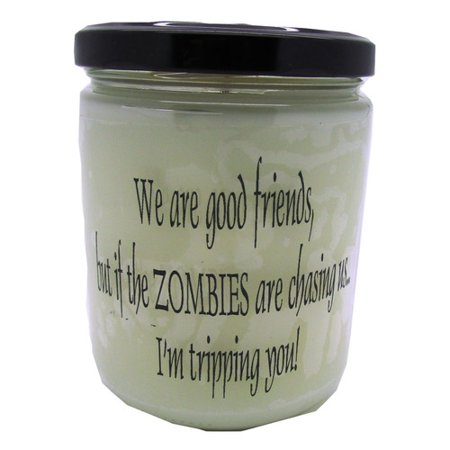 """Star Hollow Candle Company """"Zombies are Chasing Us."""" Orange Clove Jar Candle"""