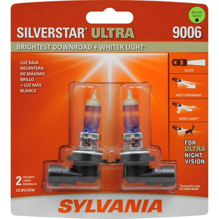 Halogen Replacement Fog Light Bulb - SYLVANIA 9006 SilverStar ULTRA Halogen Headlight Bulb, Pack of 2