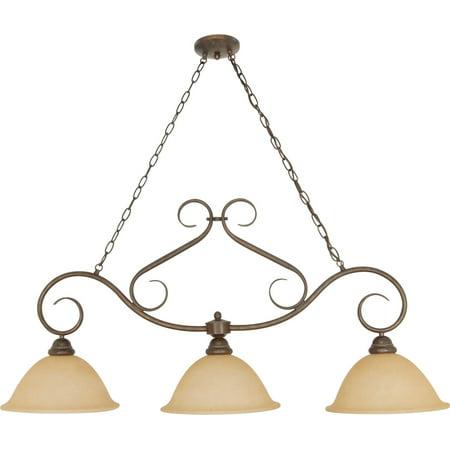 Island Lighting 3 Light With Sonoma Bronze Finish Metal Medium Base 12 inch 180 (12 Light Island Light)