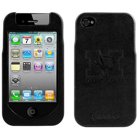 Missouri Tigers Black Team Logo Hard Leather iPhone 4/4S Case Team Logo Hard Iphone