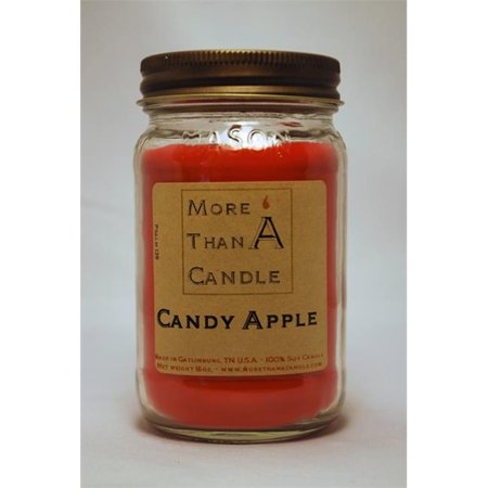 16 Candy Jars - More Than A Candle CDA16M 16 oz Mason Jar Soy Candle, Candy Apple