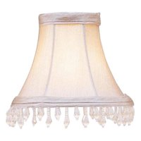 Livex Lighting Pewter Bell Clip Shade with Clear Beads