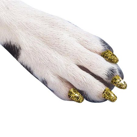 Canine Soft Claws Dog and Cat Nail Caps Take Home Kit, Small, Sparkle Blue - Halloween Claw Nails