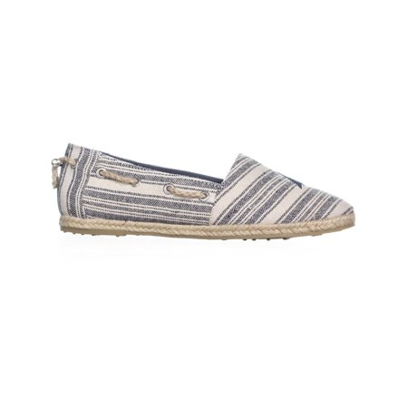 Nautica Rudder Slip-On Espadrille Flats, Navy Triple Stripe - image 2 de 6