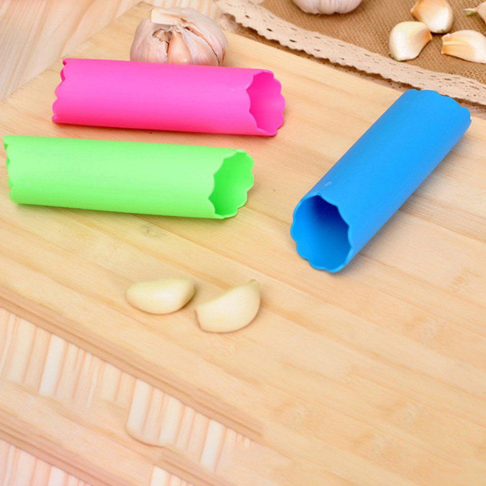 fengzong Garlic Peeler Silicone Easy Roll Tube Useful Garlic Kitchen Tool Easy to use Convenient Safe Non Toxic Random /& Random