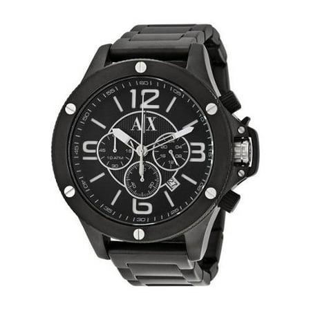 a4398d93433f Armani Exchange - Armani Exchange Men s AX1503 Black Stainless Steel Quartz  Watch - Walmart.com