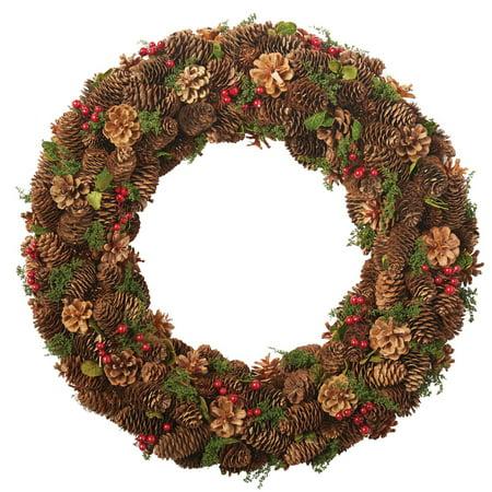 DII Decorative Pinecones & Holly 22