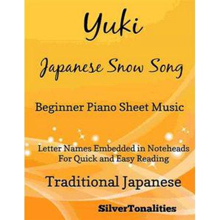 Yuki Japanese Song Song Beginner Piano Sheet Music - - Halloween Songs Sheet Music