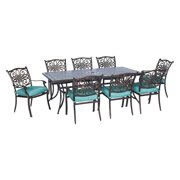 Hanover Outdoor Traditions 9 Piece Patio Dining Set