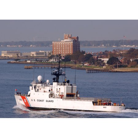 LAMINATED POSTER The U.S. Coast Guard cutter Tampa (WMEC 902) passes near Ft. Monroe in Hampton, Va., as she makes he Poster Print 24 x - Halloween City Hampton Va