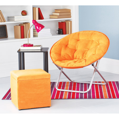 Mainstays Saucer Chair, Competitive Orange