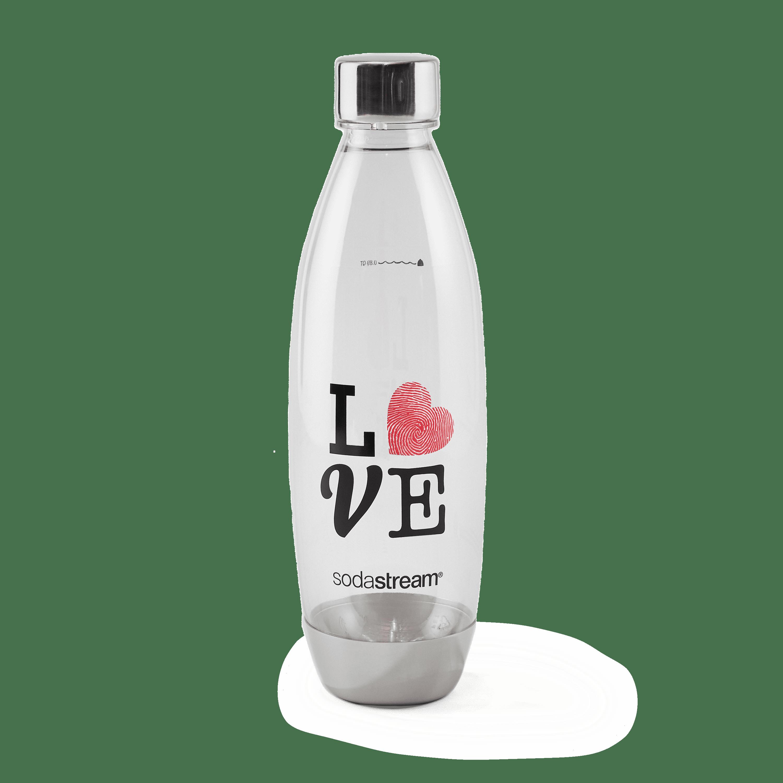 SodaStream 1L Metal Love Designer Bottle